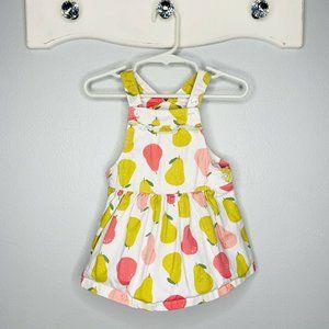 Carter's Fruit Pears Overalls Jumper Dress Size 9M